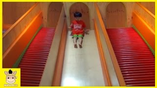Indoor Playground Fun Red Color Slide for Kids and Family Talki Cafe | MariAndKids Toys