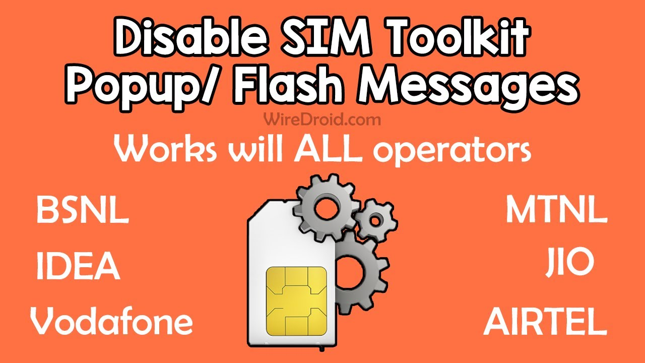 Sim Toolkit Popup Problem | Disable Flash Message