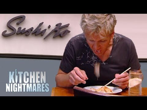 Ramsay Spits out SUSHI PIZZA at Failing Sushi Ko Restaurant | Kitchen Nightmares Supercut