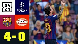 Lionel Messi mit Hattrick, Ousmane Dembele trifft: Barcelona - PSV 4:0 | UEFA CL | DAZN Highlights