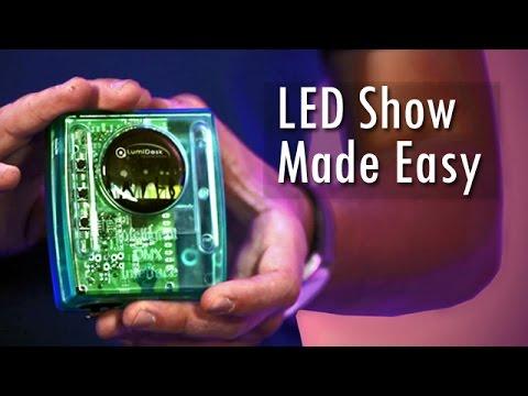 LED Show Made Easy Using DMX Lumidesk Nano Standalone