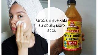 Grožis ir sveikata su obuolių sidro actu.