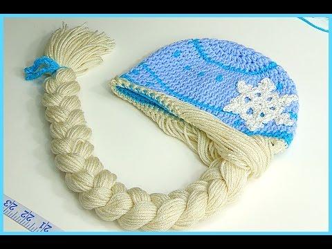 How to Crochet Elsa Anna Disney Frozen  Princess Braided Winter Hat