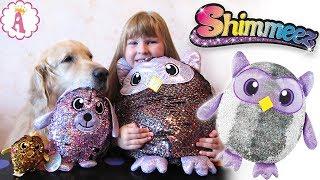 Shimmeez мягкие игрушки с пайетками меняют цвет тайна питомцев Шиммиз собака сова уточка