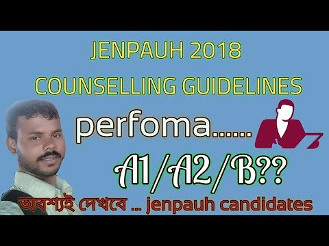 Jenpauh Counselling guidelines 2018  performa a1,a2 and b