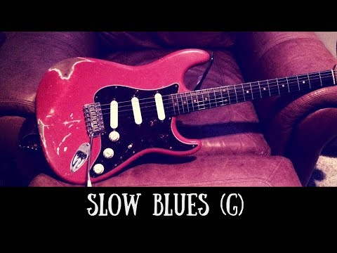 Slow Blues Jam | Sexy Guitar Backing Track (G)