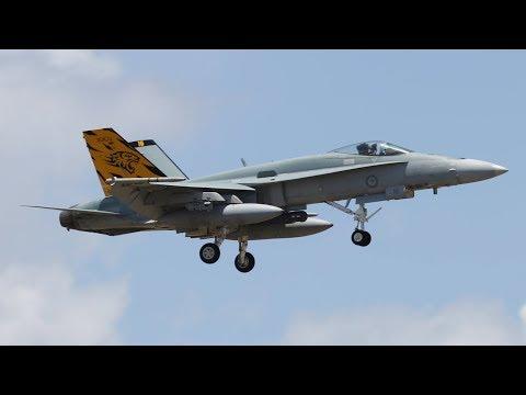 Four RAAF F/A-18 Classic Hornets Landing...