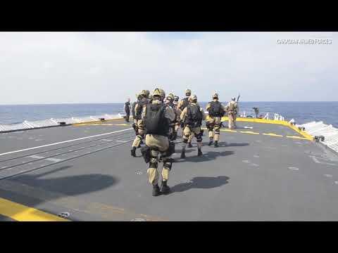 Royal Canadian Navy shadowed by China