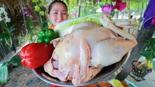 Yummy Chicken Oven Cooked Honey Taste - Chicken Roasted - Cooking With Sros