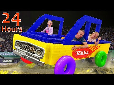 24-hours-in-giant-lego-monster-truck!-last-to-leave-wins!!!