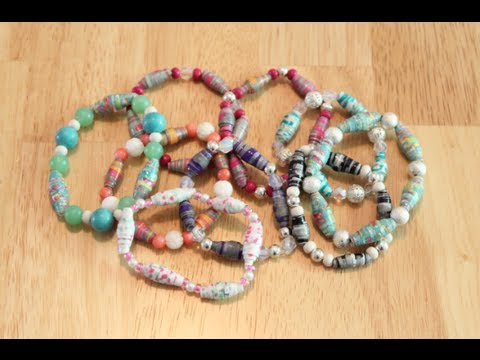 paper bead bracelets Find the perfect gift or your own style at the paper store add your personal touch with bangles, cuff bracelets and anklets designs at an affordable price.