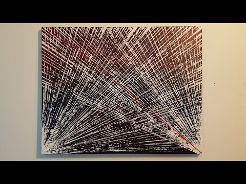 "Abstract Painting Art Demo - ""Life Lines"" Embrace The Matrix"