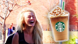 GIVING WHITE GIRLS STARBUCKS!!