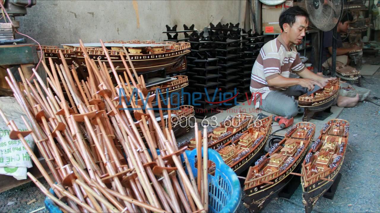 Quy trình làm mô hình tàu thuyền – Mỹ Nghệ Việt