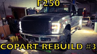 Rebuilding a Wrecked Ford F250 From Copart PART 3