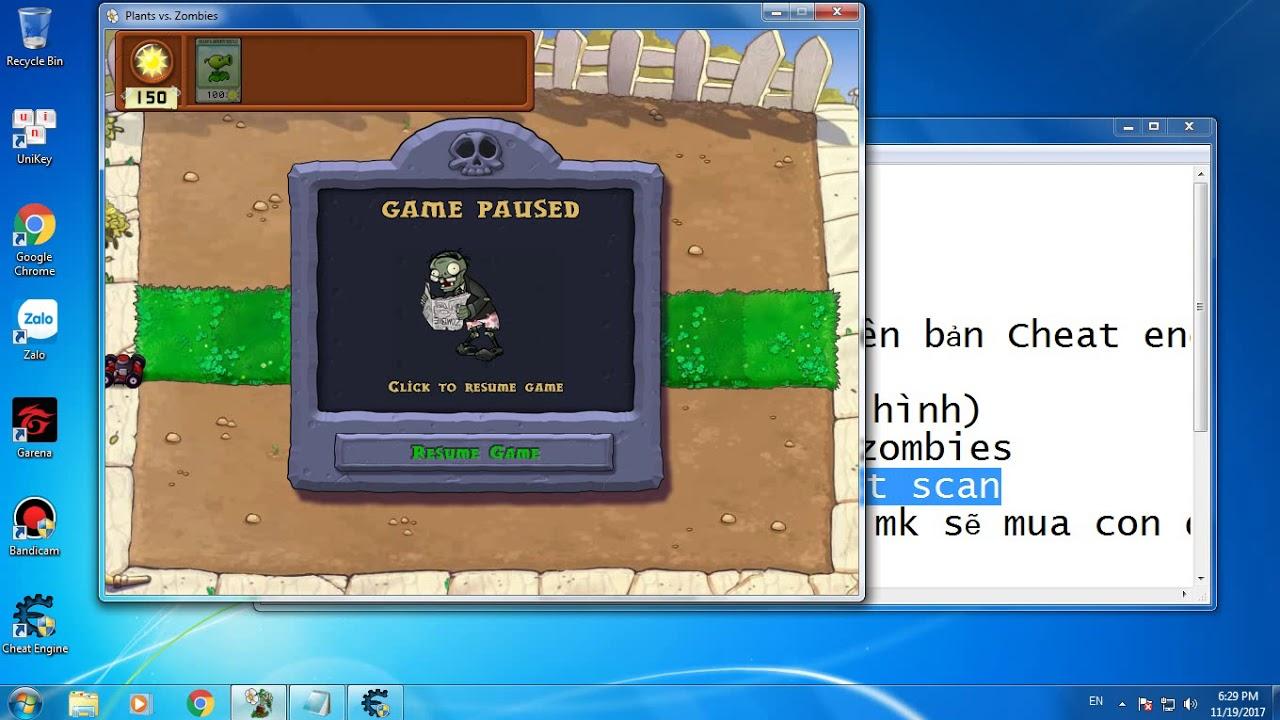 Cách hack game Plants vs Zombies trên PC hiệu quả 100%
