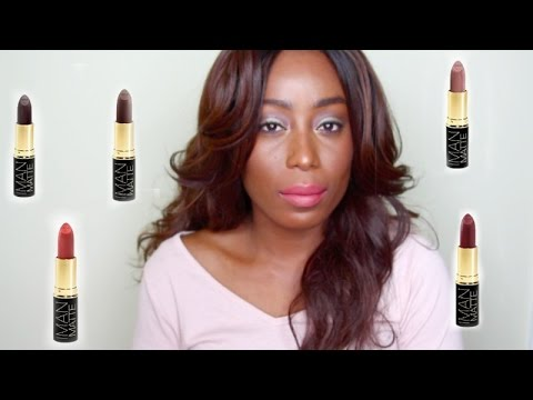 New Iman Cosmetics Matte Lipstickreviewdemo