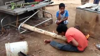 Tongan bamboo cannon boom