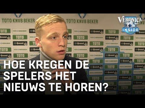 Zo kregen de Ajax-spelers het transfernieuws van Frenkie horen | VERONICA INSIDE