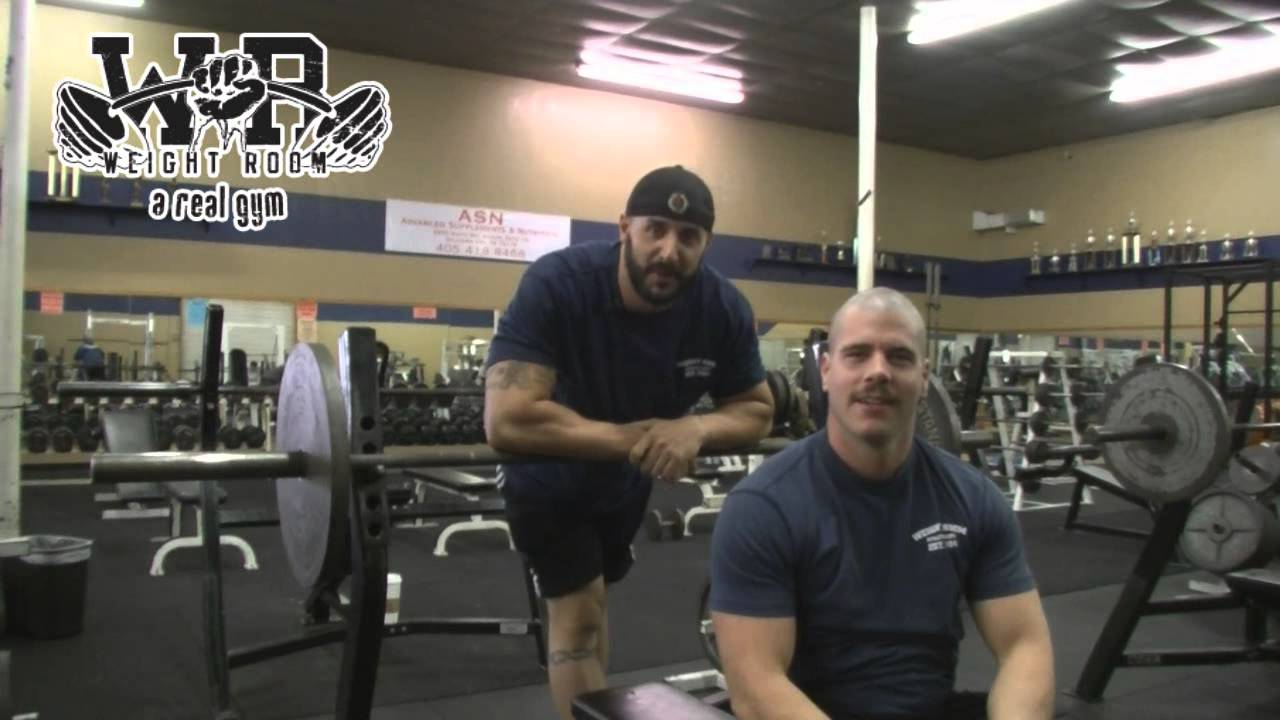 Personal training at the weight room of oklahoma city