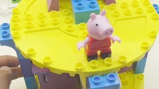 Peppa Pig English Episodes Puzzle Blocks Construction Set  Compilation 18 min