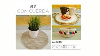 3 DIY Con Cuerda/Decoración Fibras Naturales/Ideas ROOM DECOR /Do it Yourself /Handmade