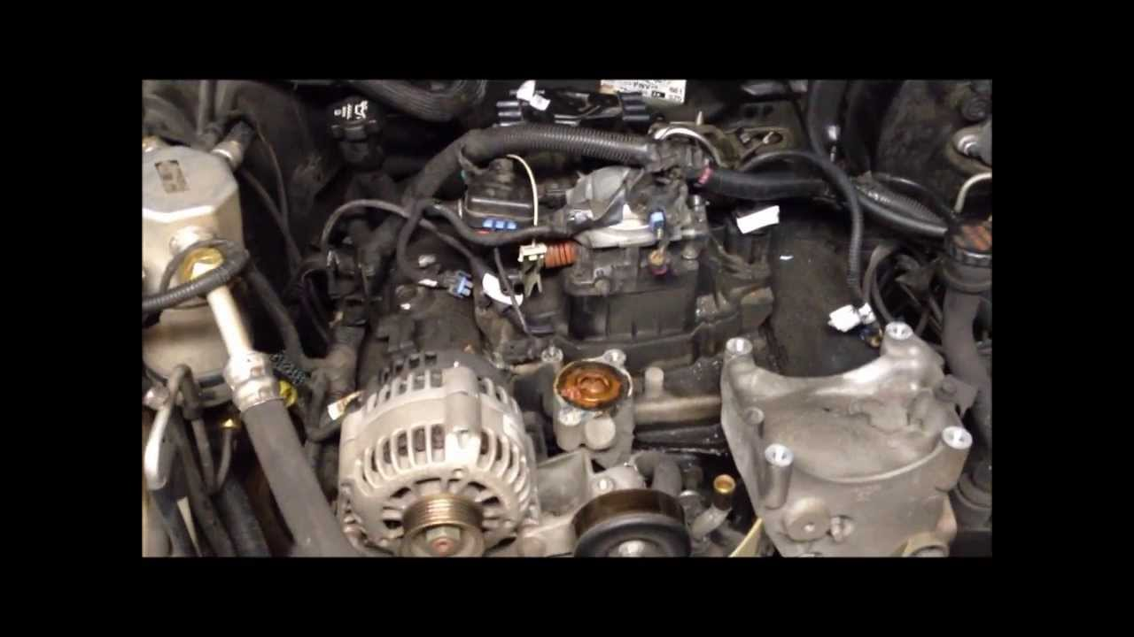 2000 chevy blazer engine diagram downlight wiring intake gaskets replaced & cooling system rebuilt - youtube