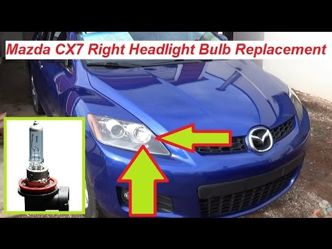 Mazda CX7 CX 7 Right Headlight Light Bulb Replacement