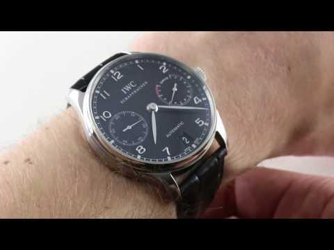 IWC Portuguese 7 Day 5001-09 Luxury Watch Review