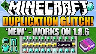 ✔ How To Duplicate Items in Minecraft 1.8.6 *NEW* (Diamonds, Tools & MORE!) (Duplication Glitch 1.8)