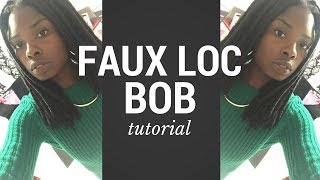 How to TRANSFORM your Long Faux Locs into a SHORT Bob style!