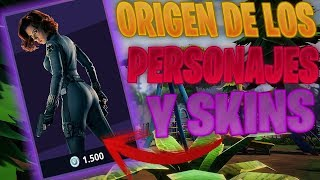 el ORIGEN de los PERSONAJES Y SKINS de Fortnite battle royale | Top Personajes Fortnite