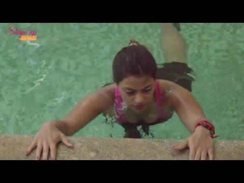 Aqua aerobics bootcamp - how to do push ups & get a cardio workout in pool.