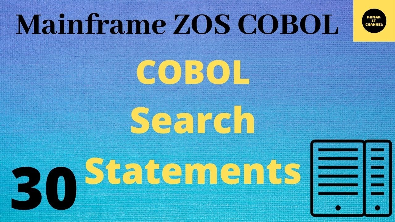 mainframe cobol practical tutorial on search youtube