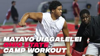 Matayo Uiagalelei: Explosive Defensive End Powers Through Workout With Larry Johnson At Ohio State