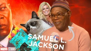 Samuel L Jackson Talks Captain Marvel, Essex, Cats And Dodgy Cakes ???? | FULL INTERVIEW