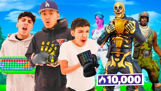 Brothers Use Worst Keyḃoard & Mouse Combos To Play Fortnite Arena!