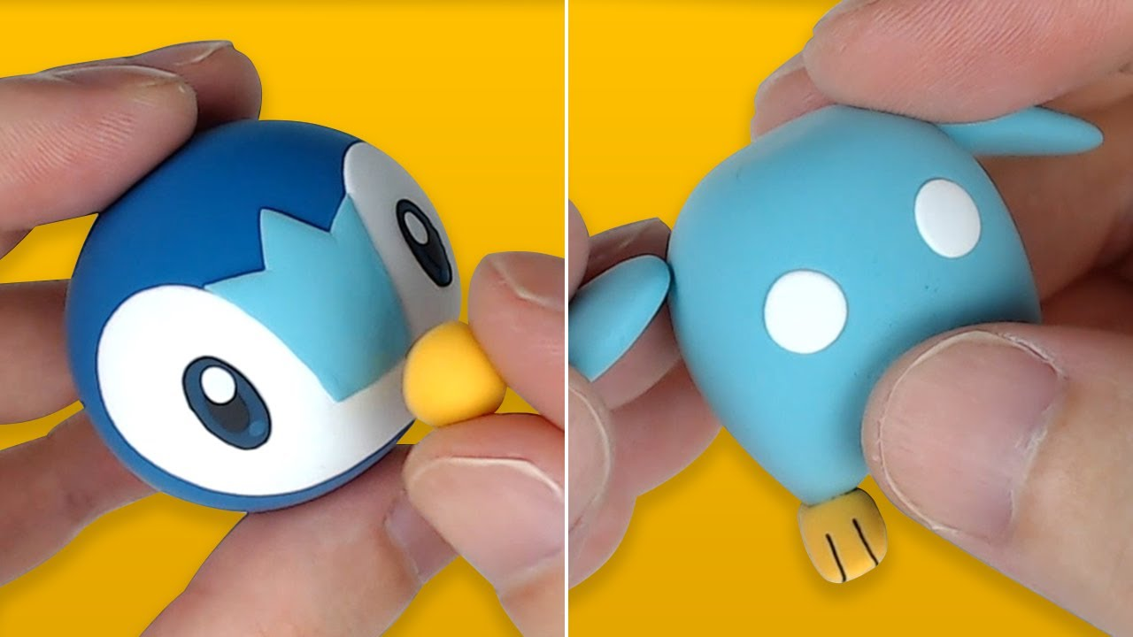 Pokémon Figures Making - Piplup!! Starter Pokémon of Sinnoh   Clay Art