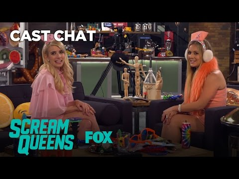 Emma Roberts & Billie Lourd Get Goofy In The Fox Lounge  Season 2  SCREAM QUEENS