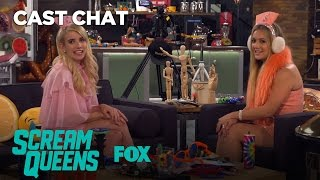Emma Roberts & Billie Lourd Get Goofy In The Fox Lounge | Season 2 | SCREAM QUEENS
