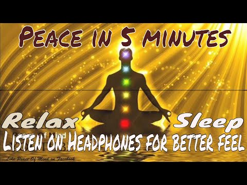 Peace Of Mind -5 Minutes Relaxing Soothing Music Massage(Try It On Headphones For Better Feel)