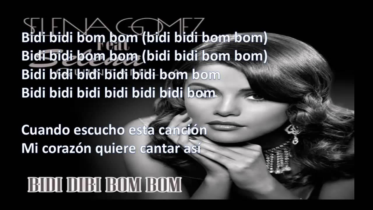 Selena Gomez Ft Selena Quintanilla Bidi Bidi Bom Bom Lyrics Youtube