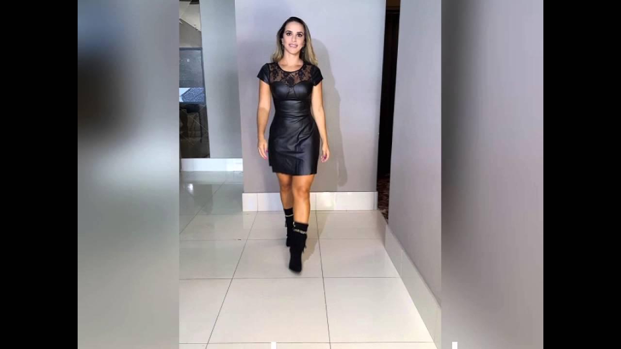 c0a065b4d Vestido Lanca Perfume Couro Com Renda - YouTube