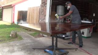 Walnut Dining Table - Finishing Lines