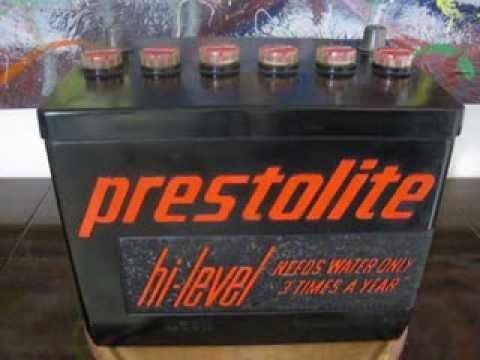 Used Car Batteries >> ARVIN PRESTOLITE Car Battery Tube Radio 1960'ish - YouTube