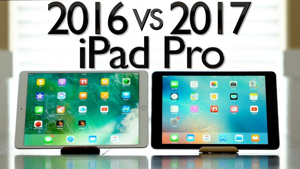 2016 Vs 2017 Ipad Pro Comparison 10 5 12 9 Youtube