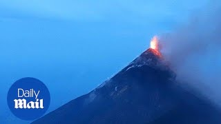 Dramatic footage of Guatemala's Volcano of Fire erupting