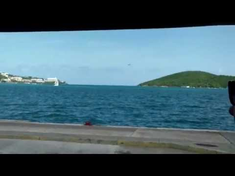 Water Plane Taking Off in Charlotte Amalie Harbour