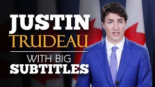 LEARN ENGLISH   JUSTIN TRUDEAU - We are Canadian (English Subtitles)