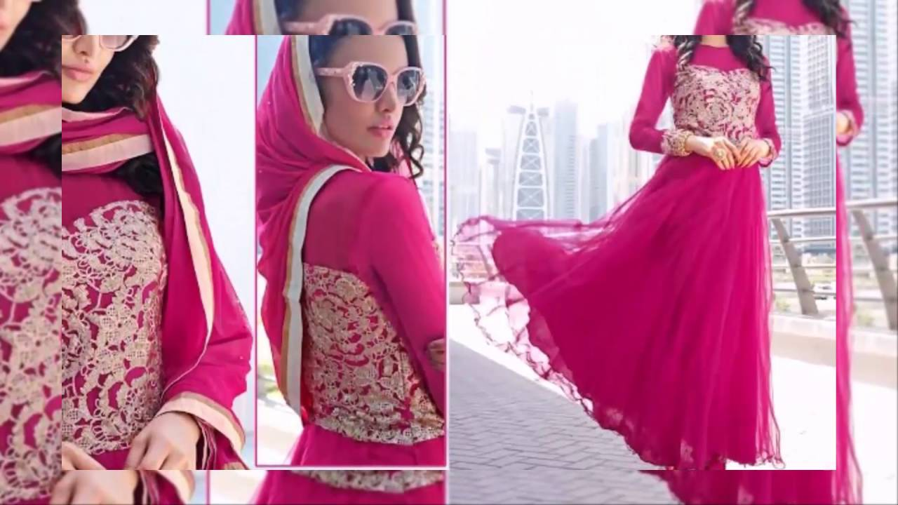 6970fae878 Anarkali Dress Designer Net Georgette Embroidery Anarkali Suits latest  fashion collection dresses
